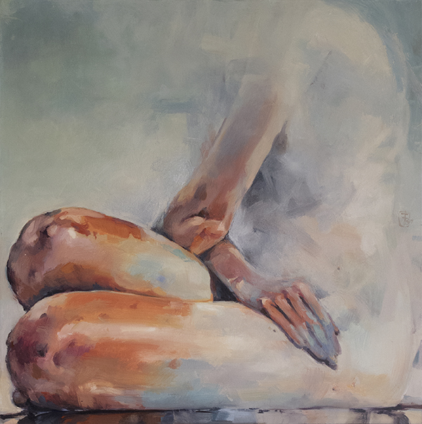 Seated Nude1 oil on canvas 76 x 76cm