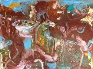 Spirit at play oil on canvas 46 x 61cm