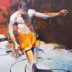 Summer 1, oil on canvas 76 x 76cm