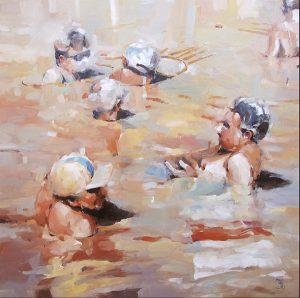 Summer 3, oil on canvas 76 x 76cm