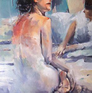 Summer 4, oil on canvas 76 x 76cm