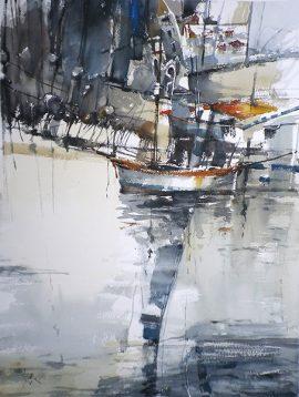 Summer Shower 4, watercolour on paper, 76 x 56cm