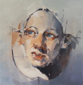 The gaze oil on canvas 76 x 76cm