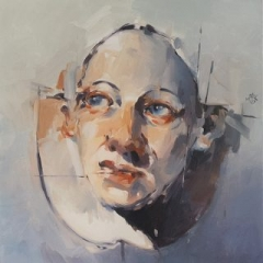 The gaze oil on canvas 76 x 76cm