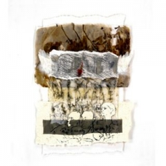 We used to be people v lino prints & mixed media assemblage 84 x 60cm