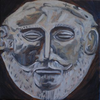 2012 agamemnon, oil on canvas, 30 x 30cm