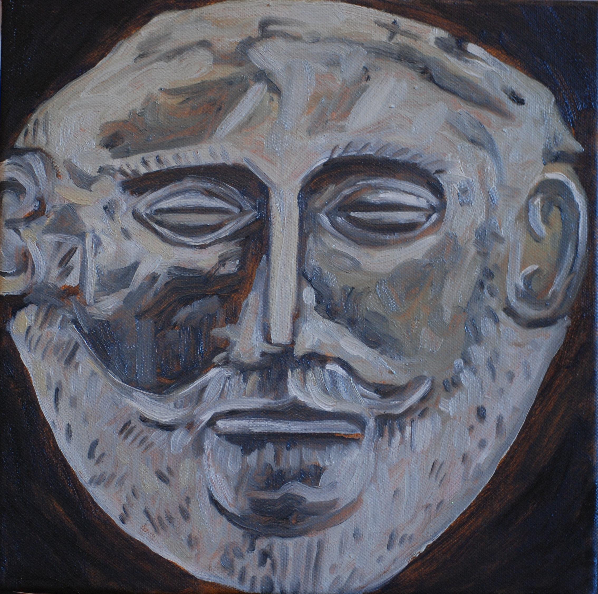 2012 agamemnon, oil on canvas, 30 x 30cm