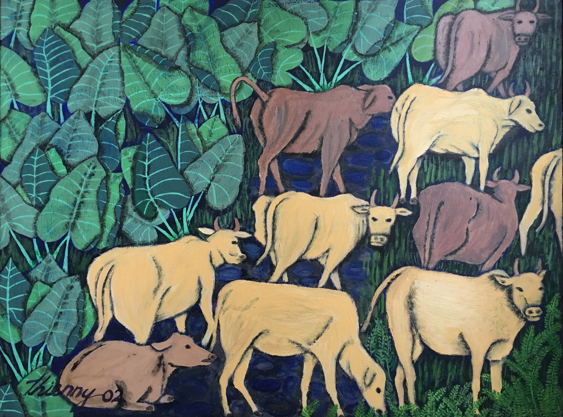 Cows & elephant ears
