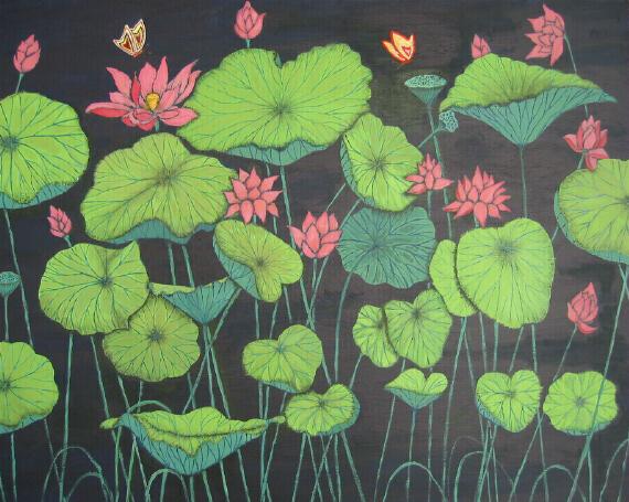 Lotus & butterflies