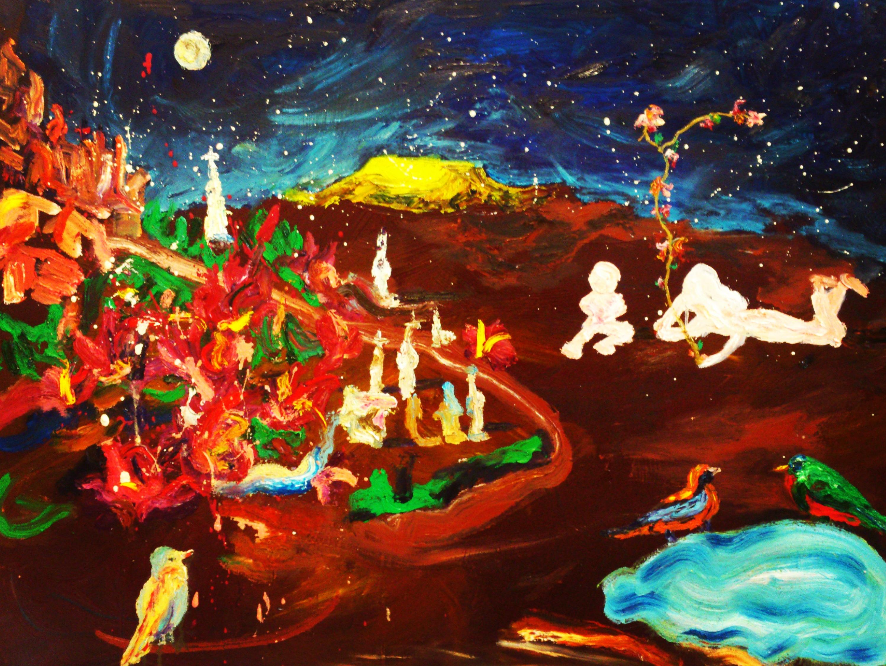 Milkyway oil on canvas 85 x 96cm