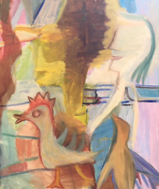 Morning walk 50 x 60cm oil on canvas