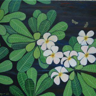 Plumeria & bees