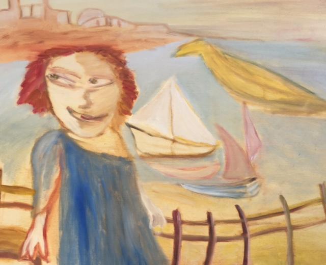 Seashore 60 x 50cm oil on board