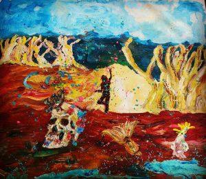 Spirit dance oil on canvas 85 x 96cm