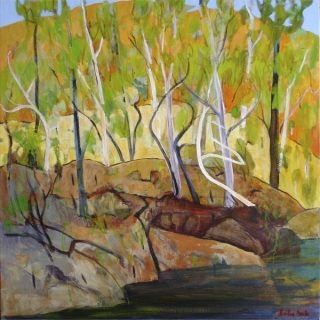 Beauty point afternoon acrylic on canvas, 91 x 91cm copy