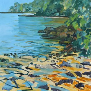 Beauty point morning 2, synthetic polymer on canvas, 76 x 76cm