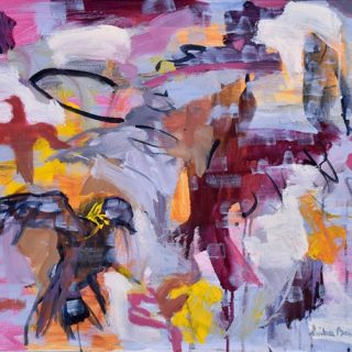 Bird Bath, synthetic polymer on canvas, 51 x 61cm