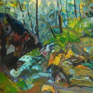 Bradleys Head Walk, synthetic polymer on canvas, 101 x 76cm