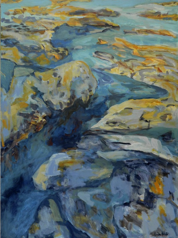 Carved by the sea acrylic on canvas, 152 x 101cm copy