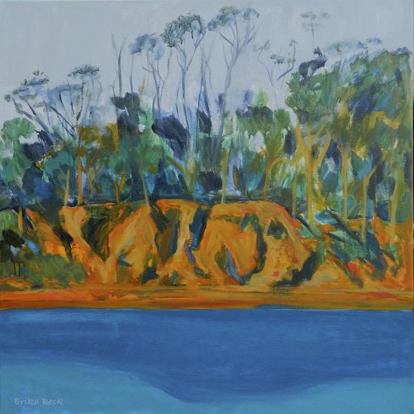 Headland from corrigans beach acrylic on canvas 91 x 91cm copy