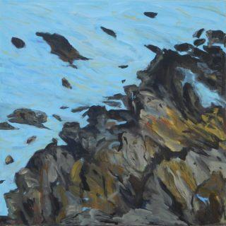 Kangaroo island wild sea, home of the seals acrylic on canvas 91 x 91cm copy