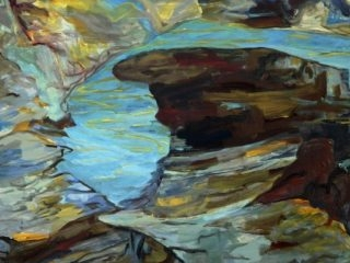 Rockpool 2 acyrlic on canvas, 91 x 102cm copy