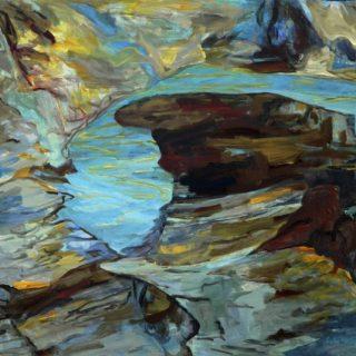 Rockpool 2 acyrlic on canvas, 91 x 102cm copy
