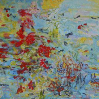 Sea garden 5 acrylic on canvas, 100 x 110cm copy
