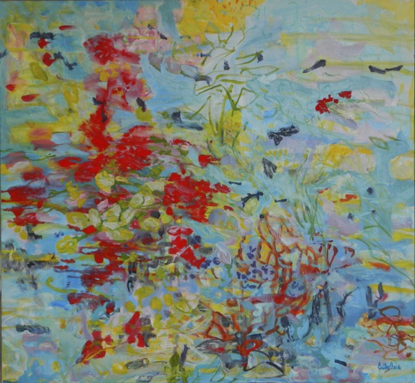 Sea garden 5 acrylic on canvas, 100 x 110cm copy