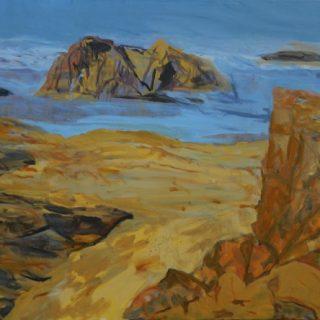 South coast malua bay near observation point acrylic on canvas, 80 x100cm copy