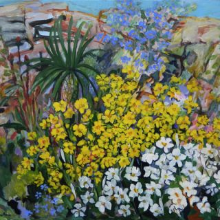 Springtime in My Garden, synthetic polymer on canvas, 91 x 102cm
