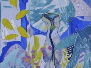 Wendy's garden lavender bay renewal acrylic on canvas, 91 x 91cm copy