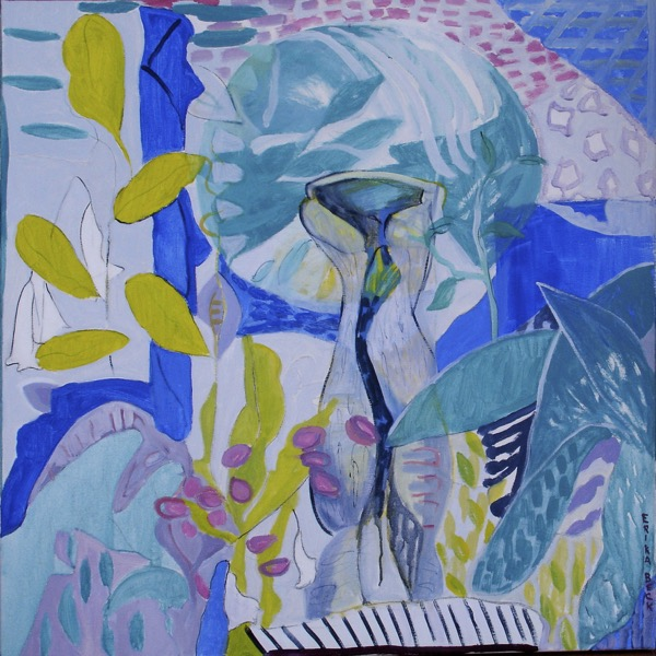 Wendy's garden lavender bay renewal acrylic on canvas, 91 x 91cm copy