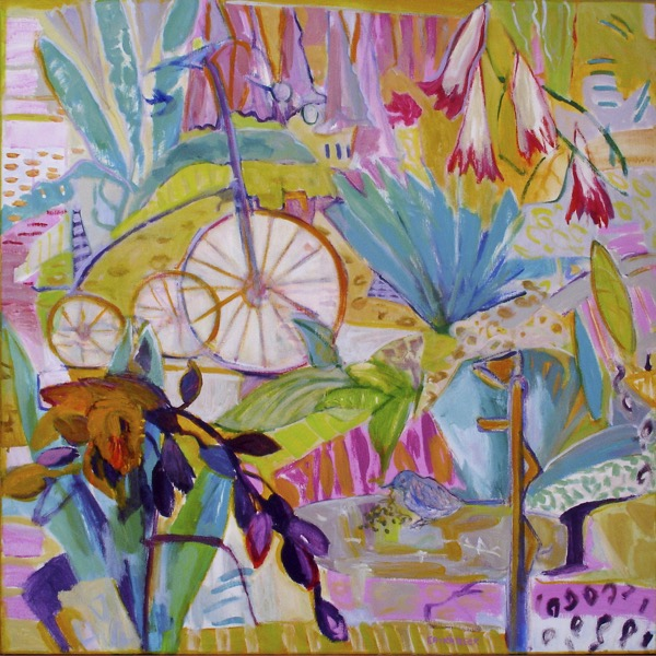 Wendy's garden lavender bay sweet memories of youth acrylic on canvas, 91 x 91cm copy