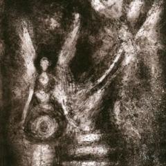 Archangels etching 20 x 29cm