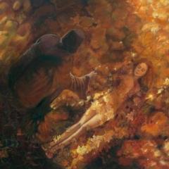 Awakening golden spinning wheel acrylic on canvas, 120 x 100cm copy