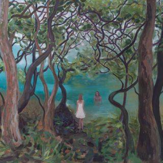 Berry island acrylic on canvas, 90 x120cm