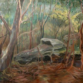Carrs bush park 2 acrylic on canvas, 120 x 90cm copy