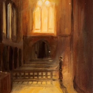 Cathedral acrylic on canvas, 25 x 31cm copy