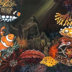 Embrace in the great barrier reef acrylic on canvas, 91 x 61cm copy