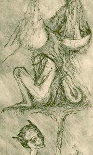 Musician etching, 10 x 30cm
