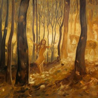 Resurrection golden spinning wheel acrylic on canvas, 120 x 100cm copy