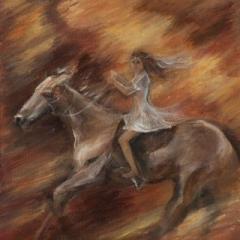 Time flies acrylic on canvas, 25 x 31cm