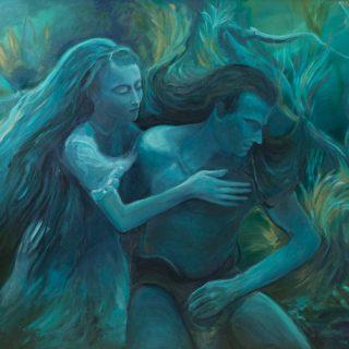 Waterman acrylic on canvas 120 x 100cm