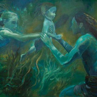 Waterman's family acrylic on ccanvas, 120 x 90cm copy