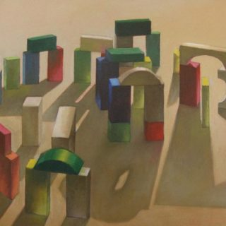 A toy henge oil on canvas 38 x 50cm copy