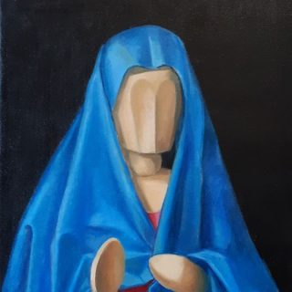 After Antonello 2, oil on canvas, 40 x 30cm