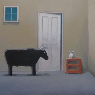 Bull in the china shop oil on canvas 40 x 46cm copy