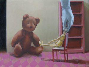Christopher robin, oil on canvas, 30 x 40cm
