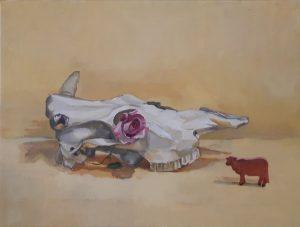 Desert image, oil on canvas, 38 x 50cm